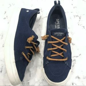 Sperry Top Sider Navy Canvas Size 8M Women's